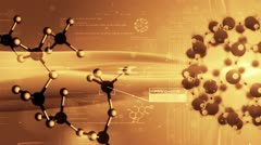 science background, Molecular structure. Chemical biology. - stock footage