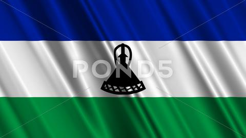 Stock Illustration of Lesotho Flag
