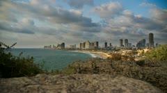 Stock Video Footage of Tel Aviv seashore dwan timelapse 0712 1