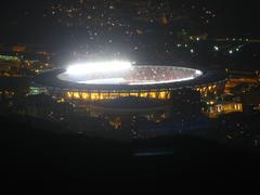 Maracana Stadium aerial Rio de Janeiro Brazil - stock photo