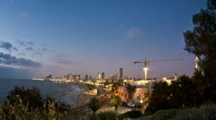 Tel Aviv seashore dwan timelapse 0712 2  Stock Footage