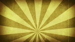 Yellow grungy rays loop background Stock Footage