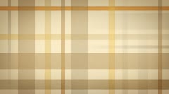 Yellow brown checked fabric loopable background Stock Footage
