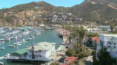 Overview of the town of Avalon on catalina Island. Stock Footage