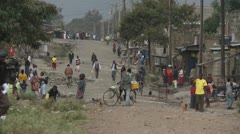 Slum street 1 Stock Footage