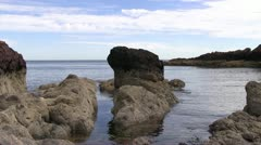 Peaceful rocky bay on the Scottish Coast - stock footage