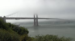 Golden Gate Foggy Day Stock Footage