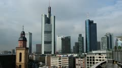 Frankfurt skyline Stock Footage