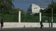 Presidential Palace After Earthquake From Street Stock Footage