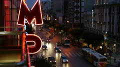 Thessaloniki Street Stock Footage