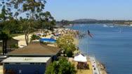 Stock Video Footage of Mothers Beach And Marine Stadium 2- Long Beach CA