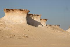 Arabian Desert Rock Formations 3 Stock Photos
