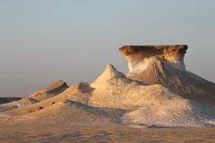 Arabian Desert Rock Formations 1 - stock photo