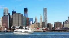 Lower Manhattan - stock footage