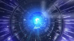 Digital tunnel. Internet. Technology background. Stock Footage