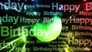 Party Music Birthday Looping Animated Background Stock Footage