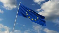 Eurounion flag Stock Footage