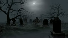 Halloween graveyard loop Stock Footage