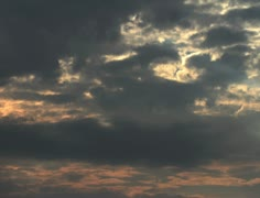 4K Lightrays Clouds Sunset Timelapse Stock Footage