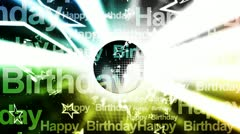 Happy Birthday Music Looping Animated Background - stock footage