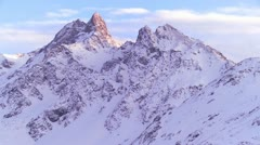 Beautiful panorama of the Swiss Alps. - stock footage