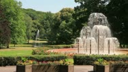 Fountain in the park Stock Footage