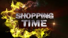 SHOPPING TIME Text in Particle Red (Double Version) - HD1080 Stock Footage