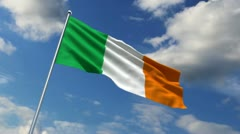 Irish flag Stock Footage