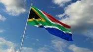 South African flag Stock Footage