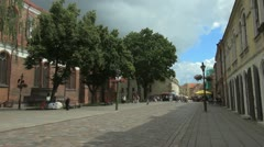 Old city street - stock footage