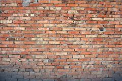 Brick wall as background. Stock Photos
