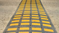 Speed bump on a road. 001 - stock footage
