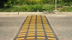 Speed bump on a road. 004 Stock Footage