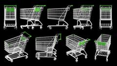 Shopping carts Stock Illustration