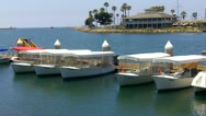 Stock Video Footage of Electric Powered Sight-Seeing Boats- Long Beach CA