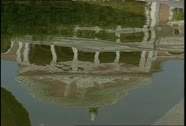 Manaus Teatro Amazonas Reflection in Water Stock Footage