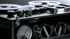 Od tape recorder Stock Footage