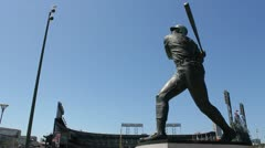 AT&T Park and Willie McCovey Statue - San Francisco Stock Footage