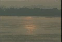 Tapajos River Sunrise Medium Shot Stock Footage