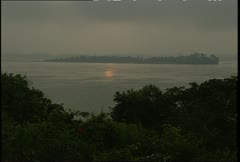 Tapajos River Sunrise Wide Shot Stock Footage