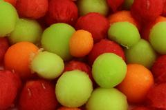 Melon Balls - stock photo