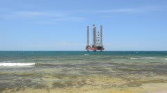 Drilling platform Stock Footage