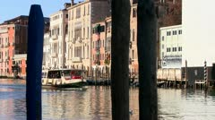 Riverboats pass on the canals of Venice, Italy. Stock Footage