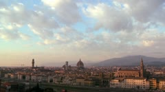 Time clouds moving over Florence, Italy. - stock footage