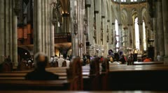 Many People visiting the Cologne Cathedral Stock Footage