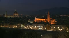 Florence, Italy by night. - stock footage