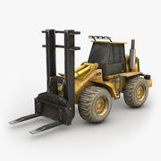 Heavy Forklift 3D Model