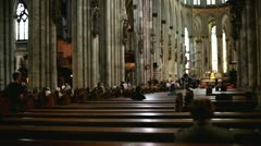 People inside of Cologne Cathedral Stock Footage