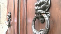 The devil door knockers. Stock Footage