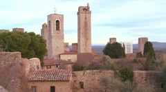 The beautiful town of San Gimignano in Italy. Stock Footage